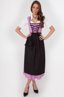 3-piece purple polka dot dirndl with blouse