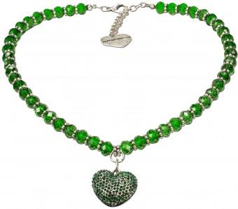 Perlenkette Mathilda grün