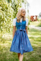 : Dirndl Marietta blau