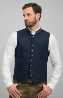 Traditional Vest Levon in blue