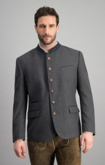 Traditional jacket Titus in gray