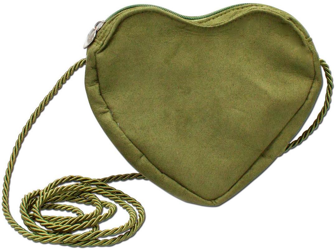 Herz Trachtentasche grün