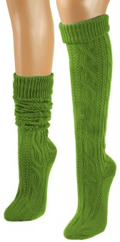 Knee-Length Winter Socks, Green