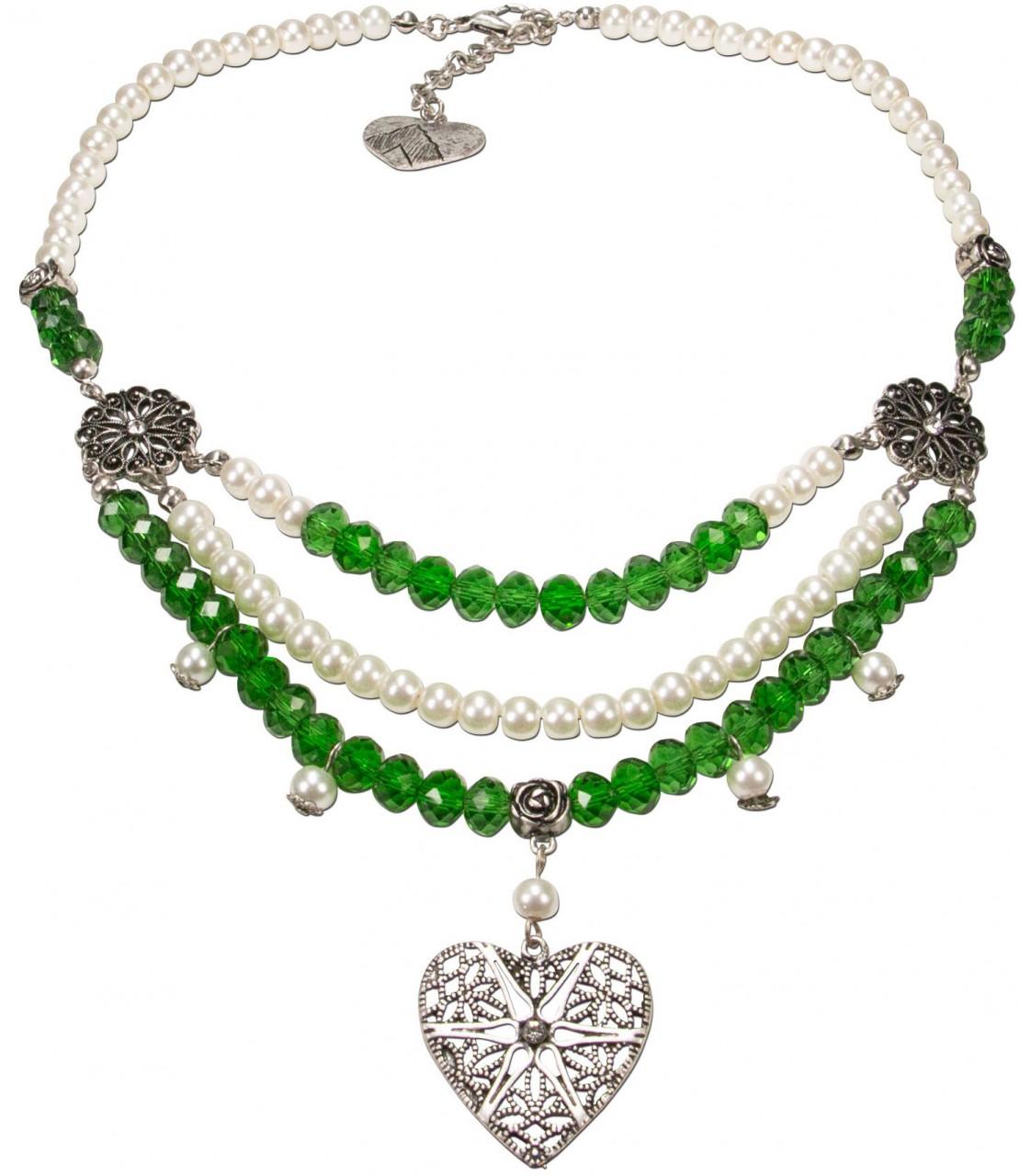 Collier Pauline grün-weiß