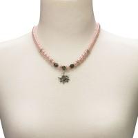 Vorschau: Trachtenkette kleines Edelweiß rosé
