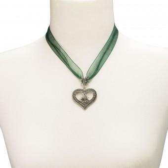 Naszyjnik z organzy Maria zielony