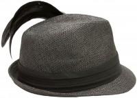 Vorschau: Trachten-Strohhut schwarz