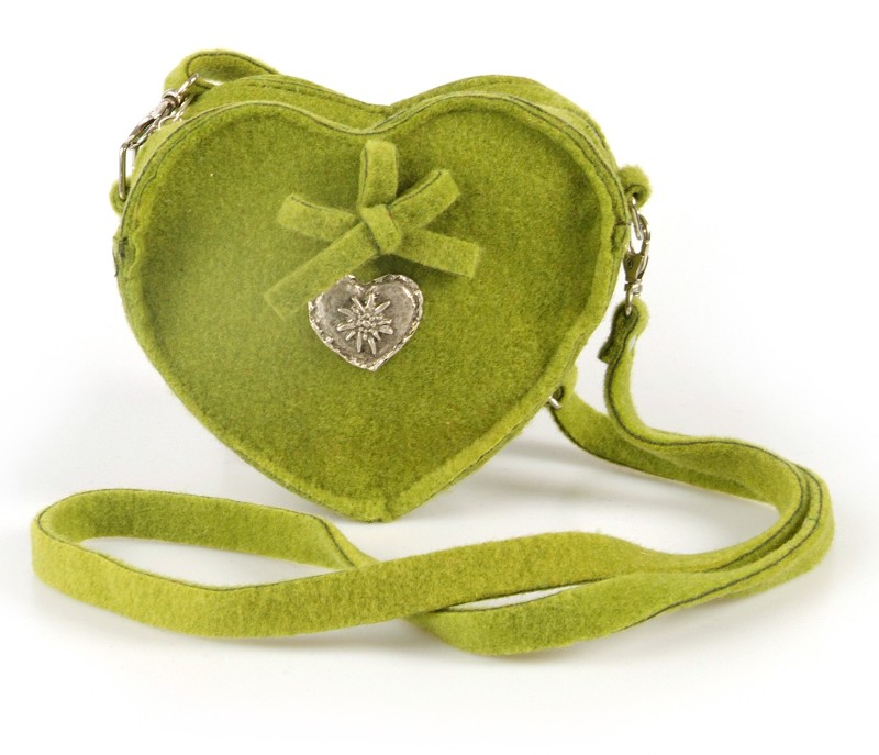 Umhängetasche aus Filz hellgrün