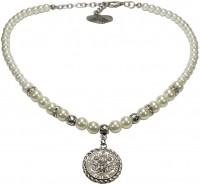 Vorschau: Münz-Perlenkette Lea cremeweiß