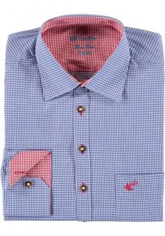 Herrenhemd Wiggerl blau-rot