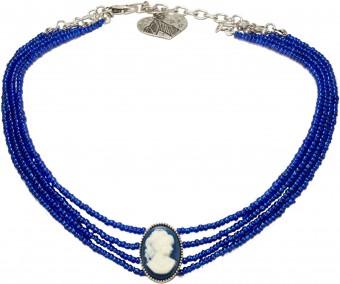 Perlenkropfkette Sissi blau