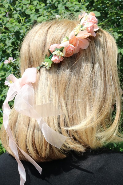 Haarkranz Fairytale in Apricot