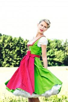 Dirndl Talisa, green dotted