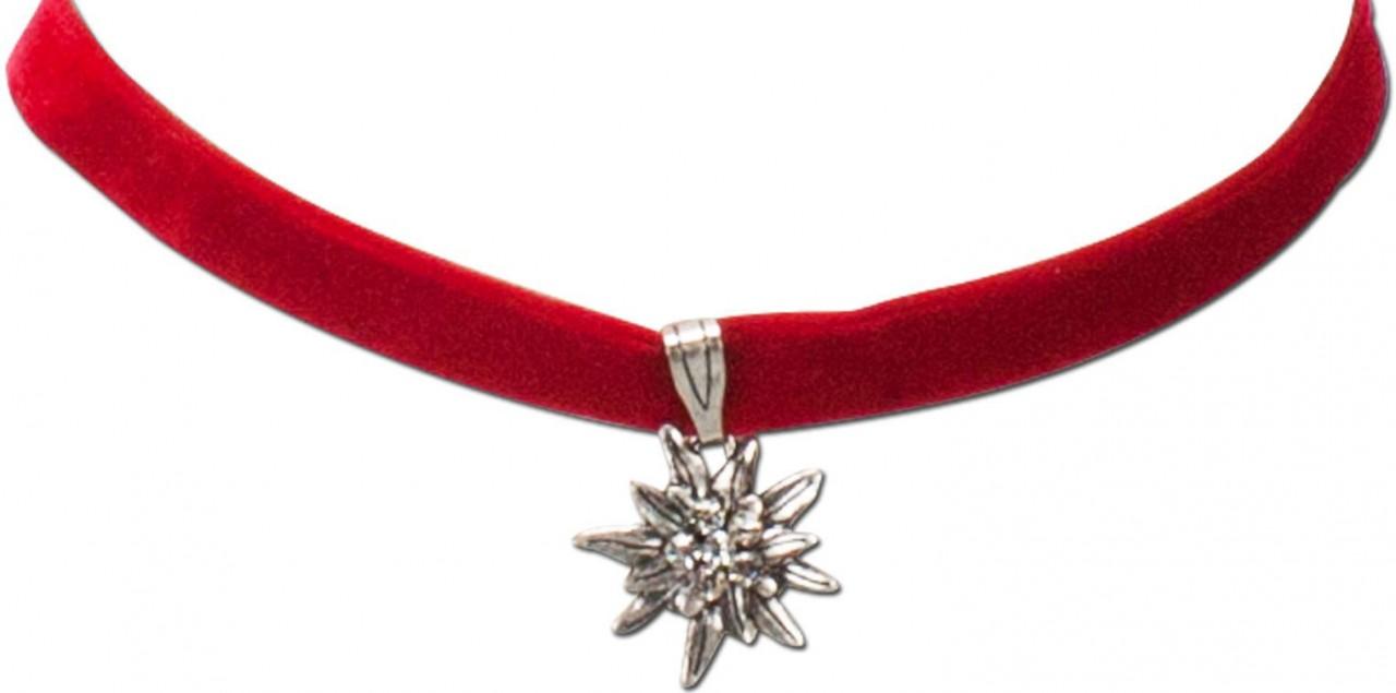 Aksamitna opaska mała szarotka czerwona