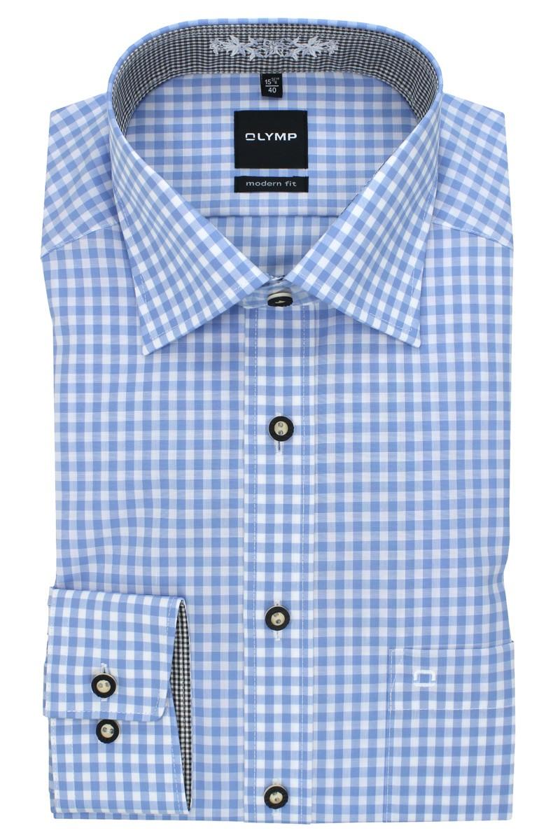 Olymp Hemd blau/weiß kariert