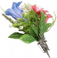 Vorschau: Trachten Brosche Alpenblümchen