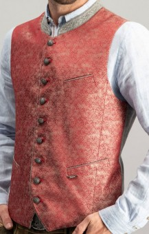 Trachten vest Wallace red