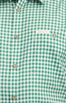 Traditional shirt Renko in dark green
