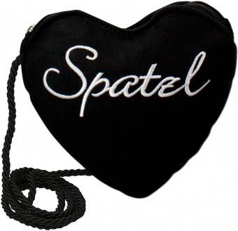 Dirndl-Herztasche Spatzl schwarz