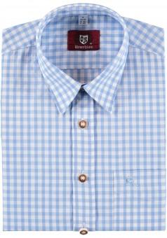 Trachtenhemd Bertl hellblau-kariert