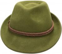 Trachten-Filzhut mit Kordel grün