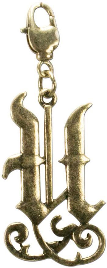 Buchstabe U - Trachtenanhänger altgold