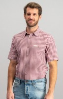Vorschau: Trachtenhemd Renko in bordeaux