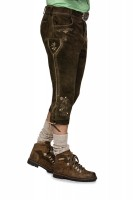 Vorschau: Kniebundlederhose Sigmar dunkelbraun