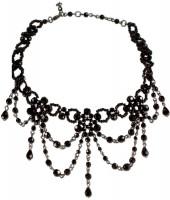 Preview: Perlenkropfkette Annabelle schwarz