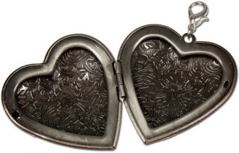 Trachten Amulet Heart, Antique Silver