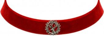 Trachten Kropfband mit Hirsch rot