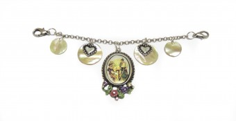 Perlmutt Damen Charivari mit Amulett