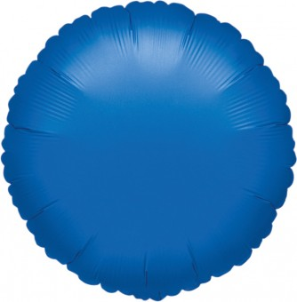 Runder Folienballon blau 45cm