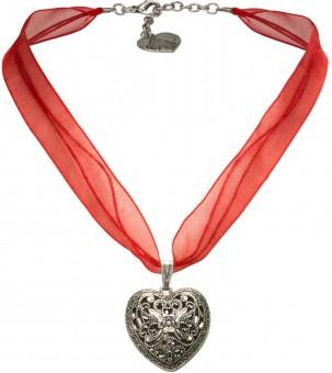 Organza Trachtenkette Viktoria rot