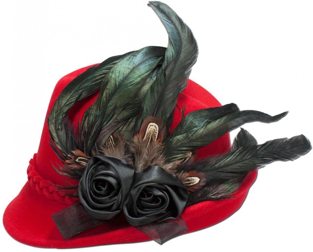 Filzhut Rosalie rot