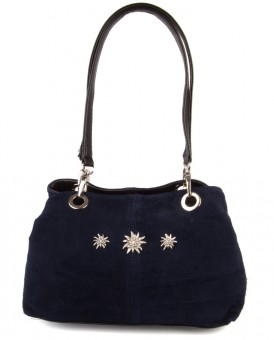 Handtasche Larissa Wildleder marine