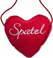 Vorschau: Dirndl-Herztasche Spatzl rot