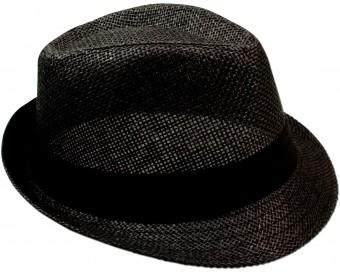 Trachten-Strohhut schlicht schwarz
