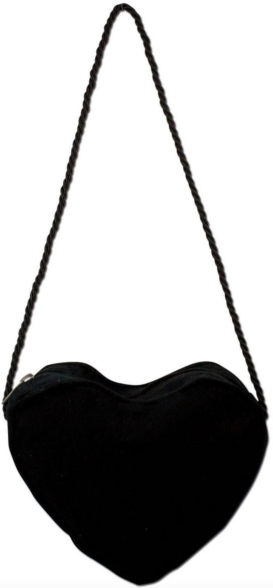 Herz Trachtentasche schwarz