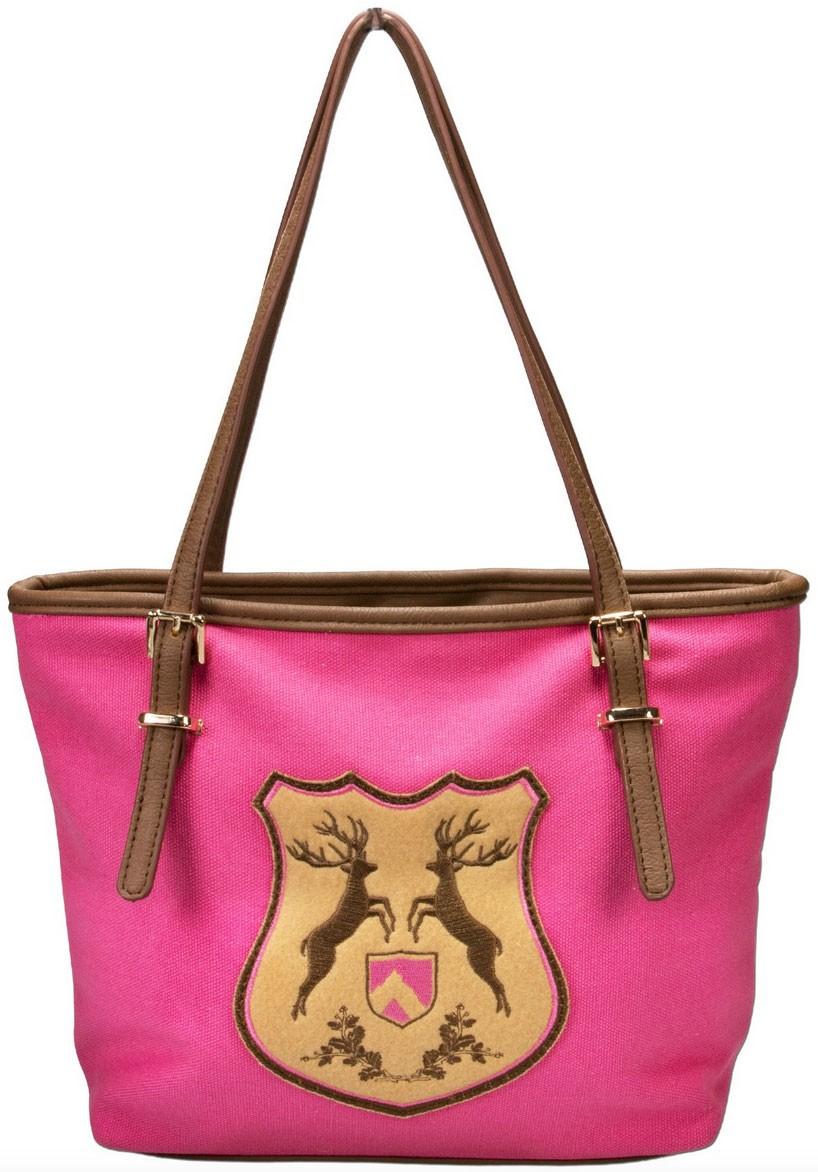Trachten Handtasche mit Hirschwappen pink
