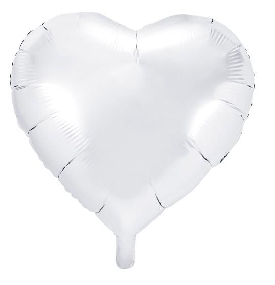 Herzballon Perlweiß 45cm