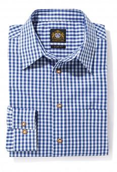 Herrenhemd blau karo