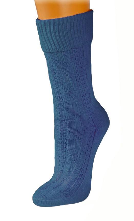 Traditionele kous medium blauw