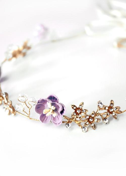 Haarkranz Romana lila