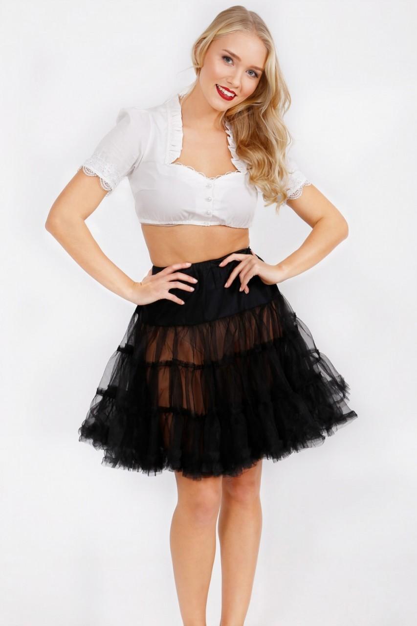 Petticoat in zwart 50cm