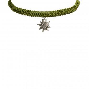 Borten-Kropfband Marlene grün