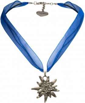 Organza Trachtenkette Theresa blau