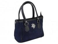 Vorschau: Mini Handtasche Edelweiß blau