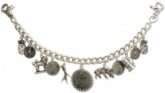 Charivari Chain w/ Charms Otto, Antique Silver