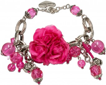 Blüten-Armband Rosi pink